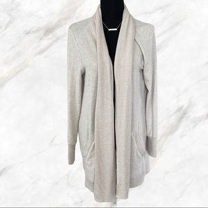 Nordstrom Gibson Long Sweater with Pockets beige